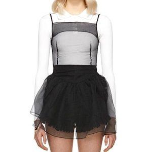 Adorable Black Tulle Mini Dress